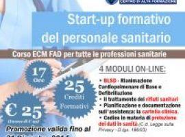 Corso ECM FAD: Start up formativo del personale sanitario - 25 Crediti ECM