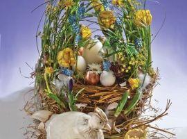 Corso di composizione floreale: La Pasqua
