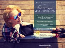 Formazione Professionale Content Management & Web Marketing con Tirocinio Lavorativo Retribuito