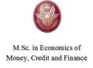 Economics of money, credit and finance - master sa