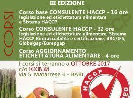 CORSI CONSULENTE HACCP