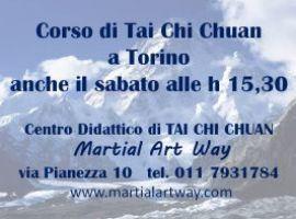 CORSI DI TAI CHI CHUAN ANCHE IL SABATO A TORINO!!! AL MARTIAL ART WAY.