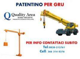 Patentino GRU su camion-a torre-AUTO CARRO/GRU