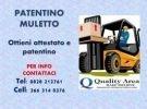 Corso di patentino carrello elevatore (muletto)