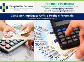 Corso online per impiegato ufficio paghe e personale