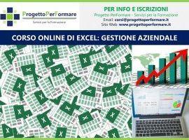 Corso online di Excel: gestione aziendale