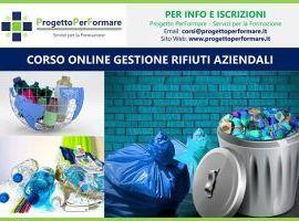 Corso online di gestione rifiuti aziendali