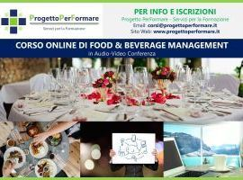 Corso online di Food&Beverage Management