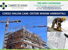 Corso online di CAM - Criteri Minimi Ambientali