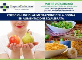 Corso online di alimentazione nella donna ed equilibrata