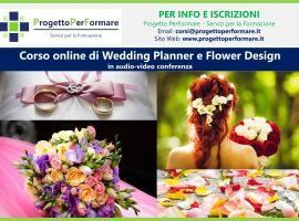 Corso online di wedding planner e flower design