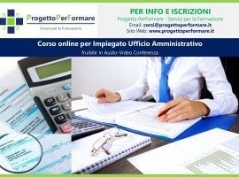 Corso online per impiegato ufficio amministrativo