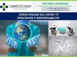 Corso online Covid-19: procedure e responsabilità