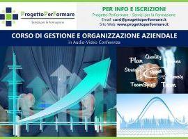 Corso online di gestione e organizzazione aziendale
