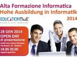 Alta Formazione Informatica - Percorsi gratuiti 2014 Bolzano