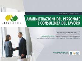Master in Amministrazione del Personale e Consulenza del Lavoro
