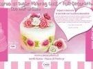 Corso di sugar painting cake - fiori decorative co