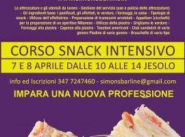 Corso snack, realizzazione snack caldi & freddi, utilizzo Piastra.